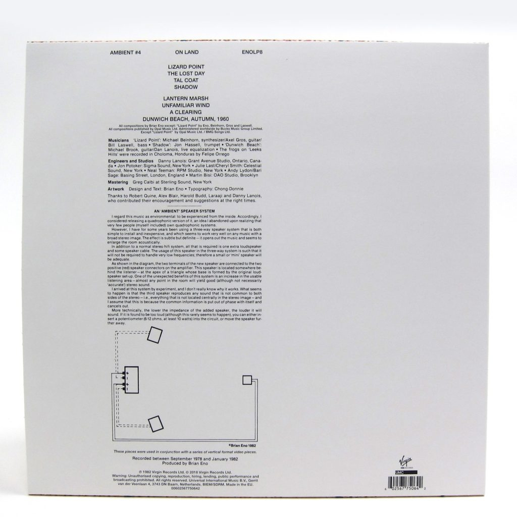 Brian Eno - Ambient 4: On Land (back)